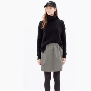 MADEWELL Jacquard Party Skirt Mini Black Gold